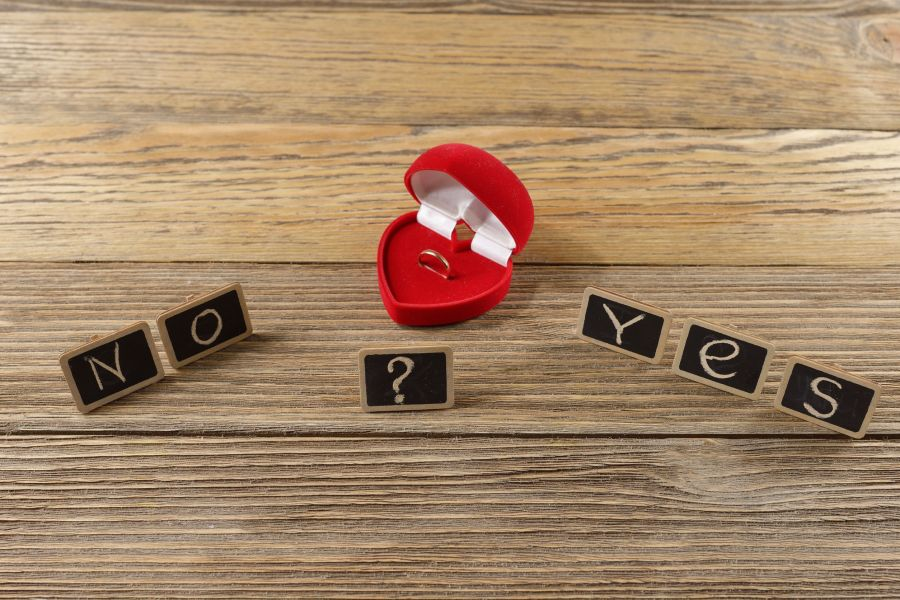 62768400 - the word of the letters, yes or no, marriage proposal